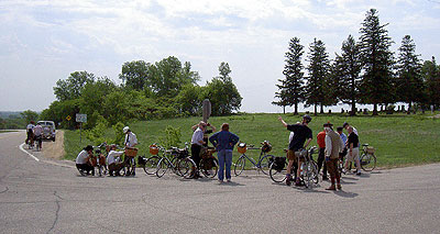 Arriving at the Bay City Hill Summit