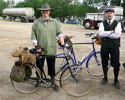Garth Ratner with his bike, Alan off to the right.