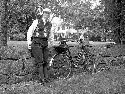 Paul and his Rudge in Old Frontenac