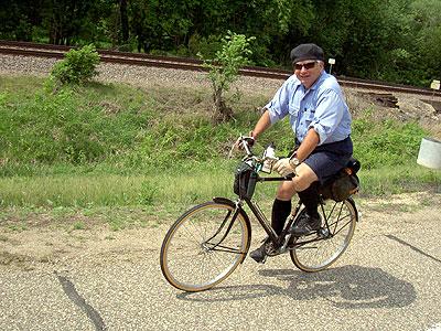 Ron Gurth riding along