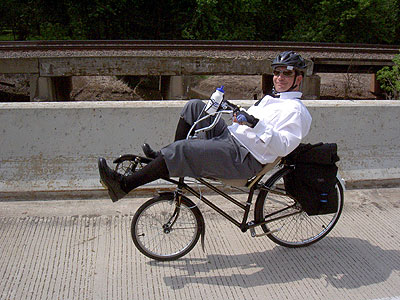 Joe riding along