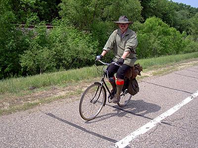 Garth Katner riding along