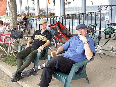 Paul and Matt.  Matt's having a pipe and a pint.
