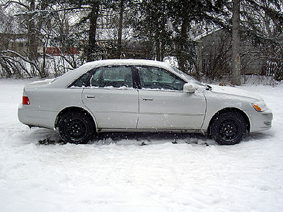 Avalon with snow tires on