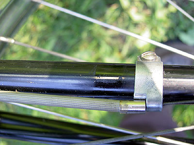 Pinstriping on the Rudge chainstay