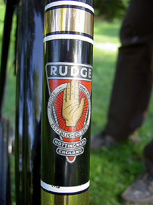 Rudge Downtube badge 1