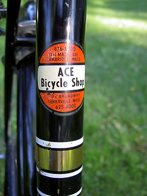 Rudge Downtube badge 2