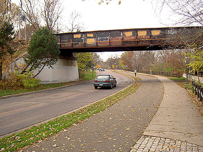 Bridge over West River Road in Minneapolis
