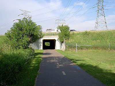 Luce Line tunnel under I-494, west side