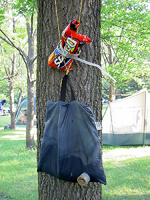 Water Bag on Tree