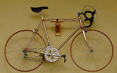 Cellini gold-plated bicycle