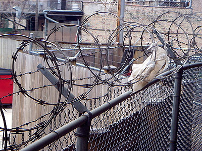 Razor wire in Chicago