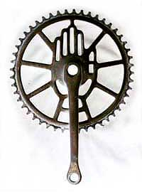 Rudge Chainring as used on cover of Blessing of the Bicycles