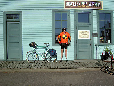 Matt at the Hinckley Fire Museum