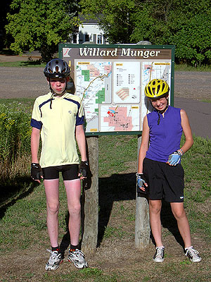 Henry and Geneva at the Willard Munger trailhead