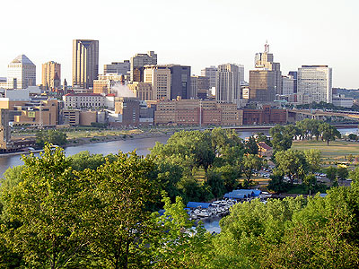 Downtown Saint Paul from High Bridge