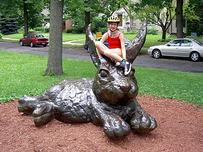 Geneva on Huge Bunny