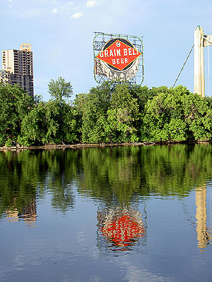 Grain Belt Sign and Reflection