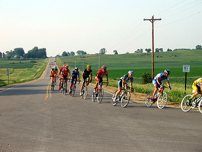Racers turn east onto Highway 1