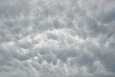 Cumulus mammulus over the course