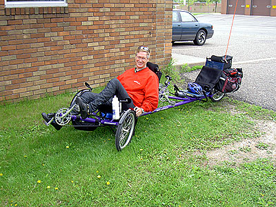 Steve K on his Greenspeed tandem trike