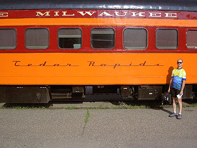 Paul and the Hiawatha Line Cedar Rapids car