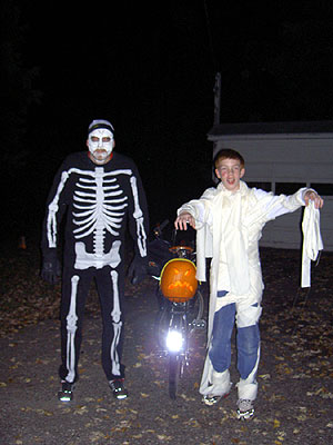 Matt and Henry at Halloween 2005