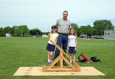 Jim and the girls and the trebouchet