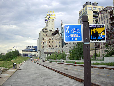 Mill City Museum bike path
