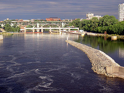 Mississippi River from Stone Arch Bridge
