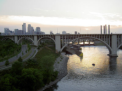 Downtown Minneapolis from the Number 9 bridge