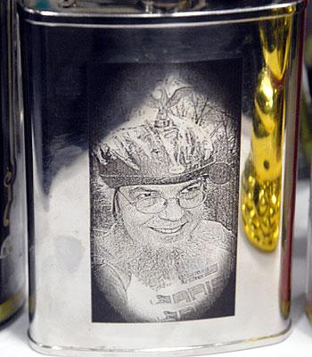 Sheldon Brown engraved Ahearne flask