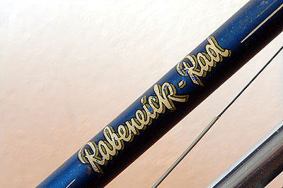 Rabeneick Rad decal on Ladies' downtube