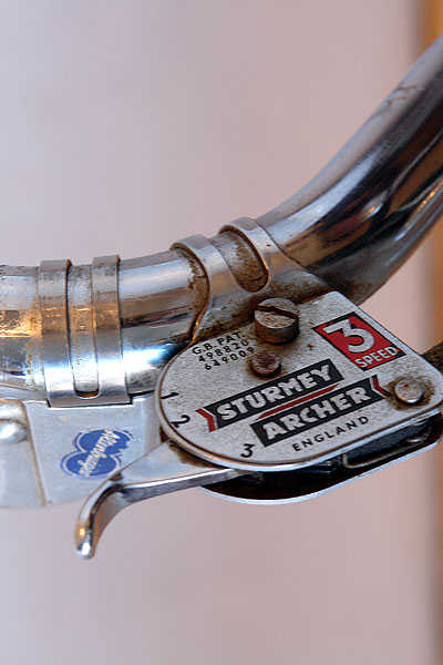 Sturmey Archer shifter on Rabeneick