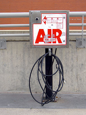 Air pump at Weisman