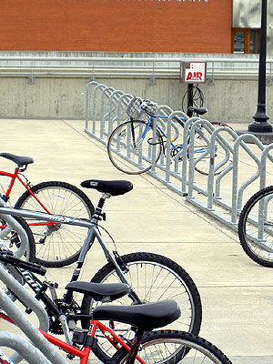 Bike racks by Weisman