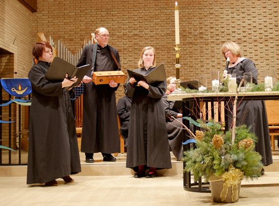 Small group performing at 2013 Medieval Lessons and Carols
