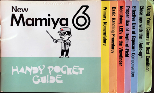 Mamiya 6 Handy Pocket Guide cover.  The real one is laminated.