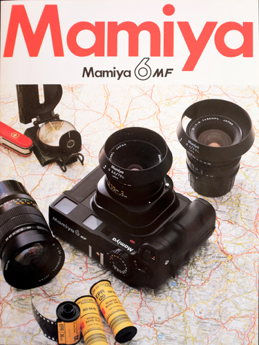 Mamiya 6 MF brochure cover inspiring deep yearning to travel and take slides
