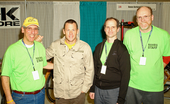 Farsiders Paul Salamon and Matt Cole with Lance Armstrong